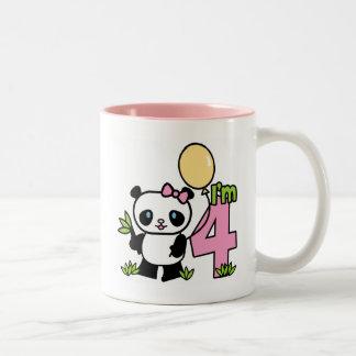 Panda Girl 4th Birthday Mug