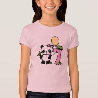 Panda Girl 7th Birthday Tshirt