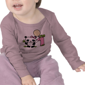 Panda Girl First Birthday Tee Shirts