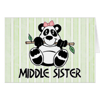 Panda Girl Middle Sister Note Card