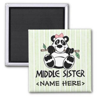 Panda Girl Middle Sister Fridge Magnets