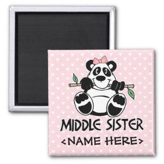 Panda Girl Middle Sister Magnet