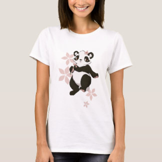 Panda girl with flowers T-Shirt