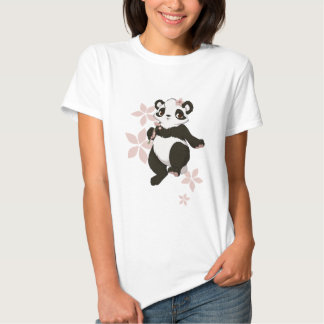 Panda girl with flowers t shirts