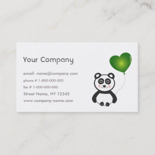 Go green business cards zazzle uk panda go green business card reheart Gallery