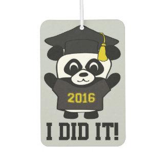 Panda Grad Wearing Black & Gold 2016 Tee
