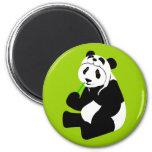 Panda Hat 6 Cm Round Magnet