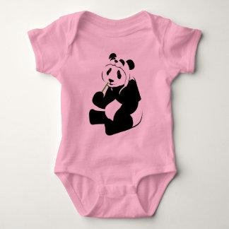 Panda Hat Baby Bodysuit
