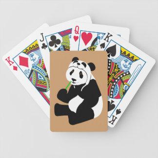 Panda Hat Bicycle Playing Cards
