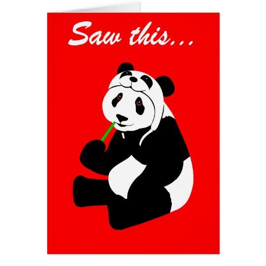 Panda Hat (birthday) Card