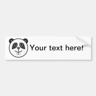 Panda head cartoon bumper sticker