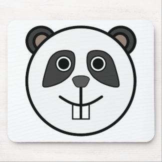 Panda head cartoon mousepad