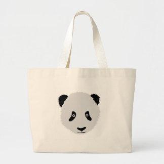 Panda Head Jumbo Tote Bag