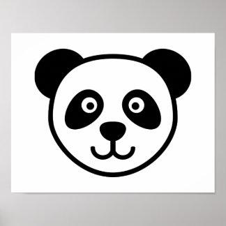 Panda head poster