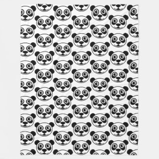 Panda Head TD Fleece Blanket