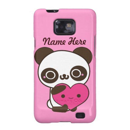 Panda Heart Samsung Galaxy SII Covers