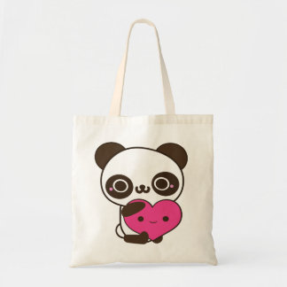 Panda Heart Tote Bag