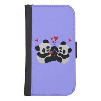 Panda Hearts Phone Wallet Case