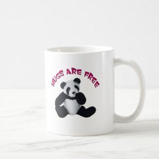 Panda hug coffee mug
