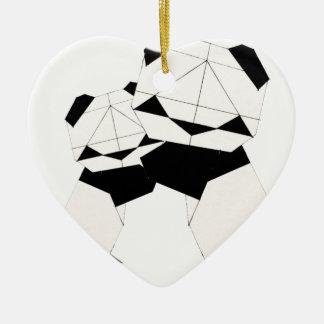 panda hugs ceramic heart decoration