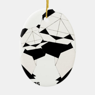 panda hugs christmas ornament