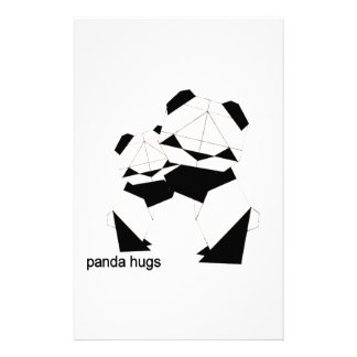 panda hugs customised stationery