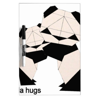 panda hugs dry erase board