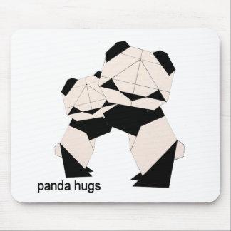 panda hugs mouse pad