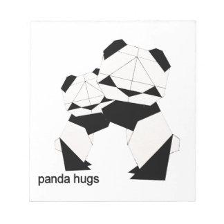 panda hugs notepad