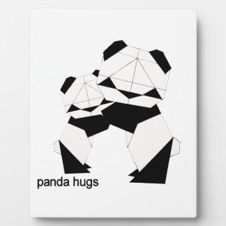 panda hugs plaque