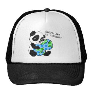 Panda hugs the earth / earthday cap