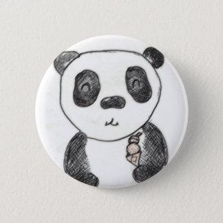 panda ice 6 cm round badge