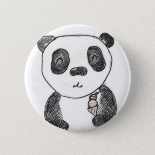 panda ice 6 cm round badge