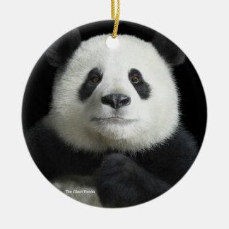 Panda image for Circle-Ornament Christmas Ornament