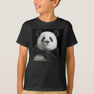 Panda image for Kids'-T-Shirt-Black T-Shirt