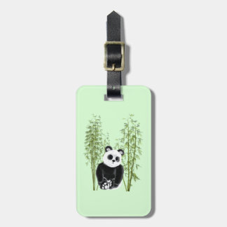 Panda in Bamboo Luggage Tag