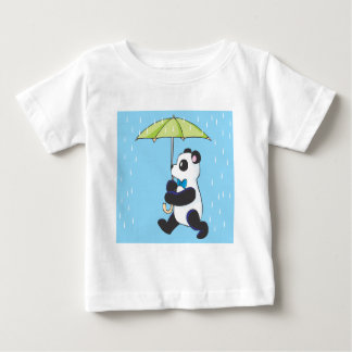 Panda In the Rain Baby T-Shirt