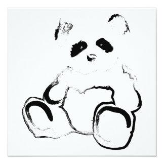 panda ink 13 cm x 13 cm square invitation card