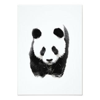 "Panda Invitations 5"" X 7"" Invitation Card"