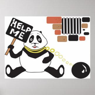 Panda Jail Poster