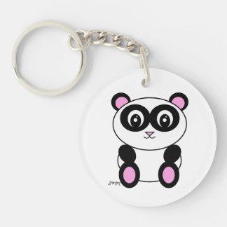 Panda Single-Sided Round Acrylic Key Ring