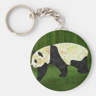 Panda Basic Round Button Key Ring