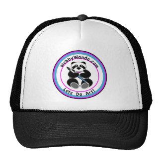 Panda Logo Trucker Baseball style hat webbywanda