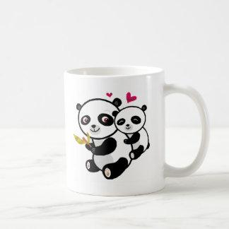 Panda Love <3 Basic White Mug