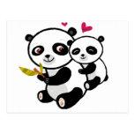 Panda Love <3 Postcard