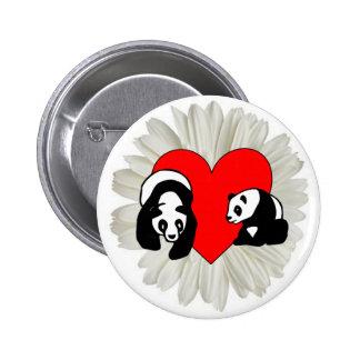 Panda Love 6 Cm Round Badge