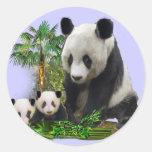 Panda Love art Stickers