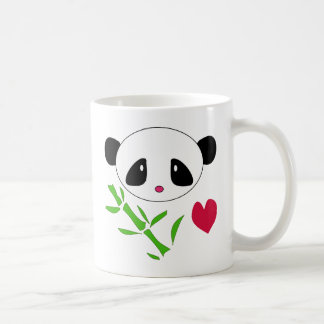 Panda Love Basic White Mug
