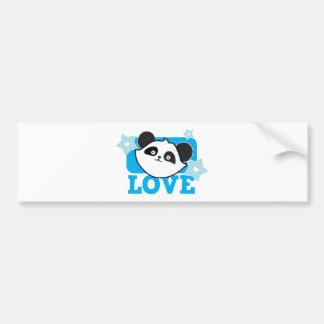 Panda love bumper stickers