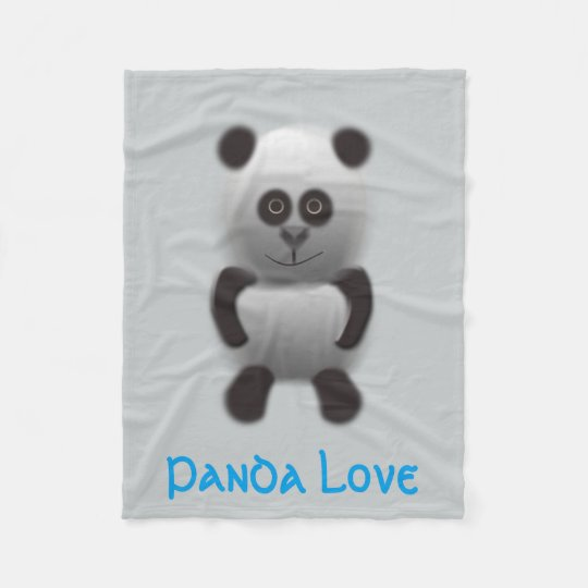 panda love fleece blanket